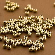 100- Gold Filled 3mm Beads, 14k Polished, Round, Seamless, Plain Spacers 14/20
