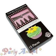 Jem Cupcakes Set/Kit de 15 Estrellas/Redondo/Boquillas/bolsos/Pastelería/Glaseado