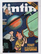 Carte TINTIN PASTICHE. Tout sur Saturne.  Collection Tintinorama