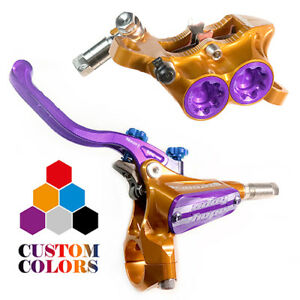Hope Tech 3 E4 Front and Rear Brakes w/ Braided Hose - CUSTOM COLORS - New