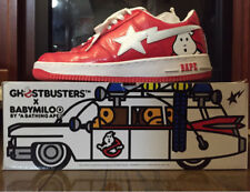 08c10b4eda3c81 A Bathing Ape x Ghostbusters Red Bapesta Men s Shoes Size 9.5 NEW RARE With  Box