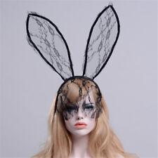 Lace Sexy Hair Band Halloween Sexy Mask Bunny Ears Rabbit Ear Headbands JDU