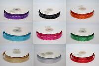 Grosgrain White Saddle Stitch Ribbon 10mm x 10m - Choose Your Colour