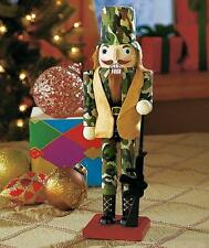 "Unique 12"" Military Army Fabrics Camouflage Nutcracker Christmas Gift"