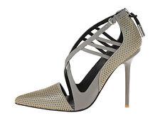 $295 NIB L.A.M.B. Boston Gorgeous Gray Leather Dress Shoes sz 9.5M