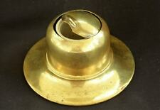 ANTIQUE VINTAGE CAPSTAN BRASS INKWELL UNUSUAL ROLL BACK TOP ~ DESK TABLE DISPLAY