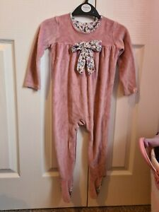 Billie faiers baby Grow Pink Bow Detail 9-12 Months Floral Detail