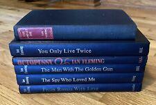 Lot of 6 Ian Fleming JAMES BOND 007 Book Club & British Reprint editions