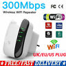 300Mbps Wireless Repeater WiFi Range Extender SSID Signal Booster UK Plug Kit