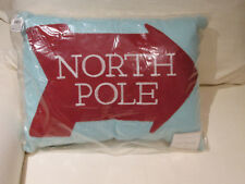 Pottery Barn North Pole Crewel Knit Pillow 12 X 16 Nwt Nice Accent Christmas