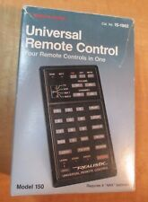 Vintage REALISTIC Universal Remote Control 4-in-1 Model 150 CAT. #15-1902 w/ box