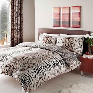 Tiger Skin Print Duvet Cover Quilt Cover Bedding Single Double King Super