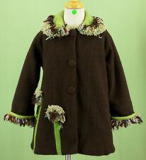 207 Corky & Company girl fleece fuzzy decoration winter coat jacket EUC Size 4
