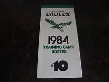Philadelphia Eagles---1984 Training Camp Roster---4x8 Folded---XHTF