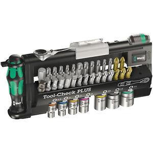 Wera Tool-Check PLUS 39pc Bit Holder Set Screwdriver Ratchet Socket 05056490001