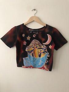 Ladies Hippy/ psychedelic Magic Mushroom Top/ Handmade.. One Off Vintage