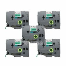 5pk Black on Green Label Tape Compatible for Brother P-Touch TZ TZe 751 24mm