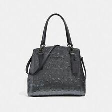 New Coach F38092 Minetta Crossbody In Signature Patent Leather Charcoal Black
