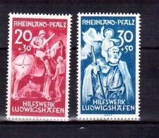 GERMANY - Rheinland-Pfalz -1948 - Mi 30/31 - Lux - Taben 18.10.1948 - K436 MUH