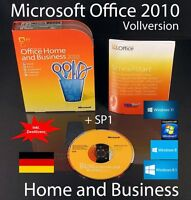 Microsoft Office Home and Business 2010 Vollversion Box, CD SP1 Zweitnutzung OVP