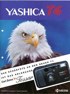 KYOCERA Kamera Prospekt YASHICA T4 Broschüre Reklame (Y902