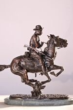 Trooper of the Plains by Frederic Remington Lost Wax Bronze Statue Mini Size