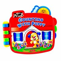 Laugh & Learn Counting With Puppy electronic Book Fisher Price toys Baby Fun fwo