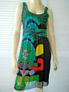 DESIGUAL by Christian Lacroix ladies size XL dress stretch full lined colourful