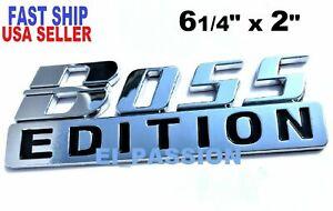 BOSS EDITION Chrome Universal Side Rear Hood logo CUSTOM EMBLEM Addition adition