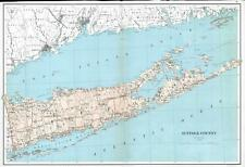 1895 Bien Map of Suffolk County (Hamptons), Long Island, New York