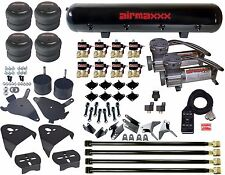 Air Kit Pewter Air Compressors 2500 Bags 12npt Valves Blk Avs 7 For Chevy S10