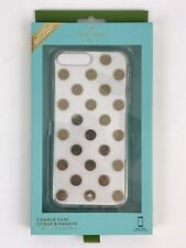 Kate Spade New York Le Pavillion Metallic Dot Clear Gold iPhone 6 8 7 Plus Case