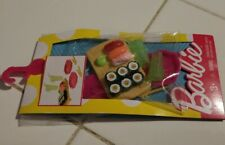 Barbie Fashion Sushi Food Accessory Pack New Sealed 2016 7 Pieces Very Cute Set!