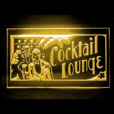 170153 Cocktails Lounge Open Pub Bar Catering Beer Display LED Light Sign