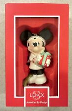 New Lenox Disney Showcase Surprise For Mickey Mouse Christmas Porcelain Ornament