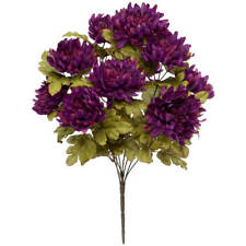 Artificial Mum Bush by OakRidge™ Silk Floral Décor, Purple