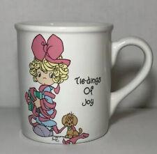 """Enesco 1994 Precious Moments Vintage, """"Tie-Dings of Joy"""" Stoneware Mug"""