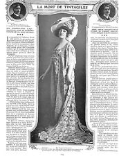 """GEORGETTE LEBLANC """" LA MORT DE TINTAGILES """" ADP DE BRINDEJONT-OFFENBACH 1905"""
