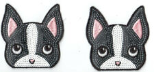 Pair of Boston Terriers: Sequin Patch