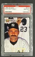 1994 Studio #215 Don Mattingly New York Yankees PSA 10 Gem Mint POP 33