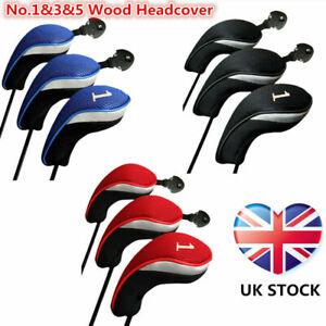 2020 Golf Wood Head Covers 1# Driver 3# Fairway 5# Hybrid Set Protective Premium
