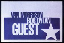BOB DYLAN REPRO 1998 VAN MORRISON TOUR CONCERT BACKSTAGE PASS STICKER