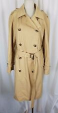 Anne Klein Long Belted Double Breasted Classic Military Trench Coat Womens 12