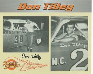 Don Tilley Autographed 8 X 10 Harley-Davidson Postcard L@@K