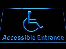 i1054-b Disabled Handicap Wheelchair Accessible Entrace Neon Light Sign