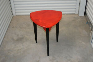 Hand crafted & Signed Small Colorful Side Table