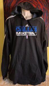 Men's Adidas NBA Authentics Dallas Mavericks Basketball Hoodie Sweatshirt Sz 3XT