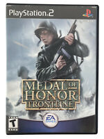 ⭐️ Medal of Honor Frontline Sony Playstation 2 PS2 WW II WW2 World War Game 🎏