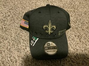 New Era Men's New Orleans Saints 2020 On-Field Salute to Service STS Hat M/L