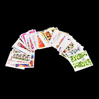 Set 50 pcs Decal Water Transfer Manicure Nail Art Stickers DIY Tips Decor YL